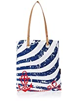 Kanvas Katha Women's Tote Bag (White) (KKST/AMZ/02W)
