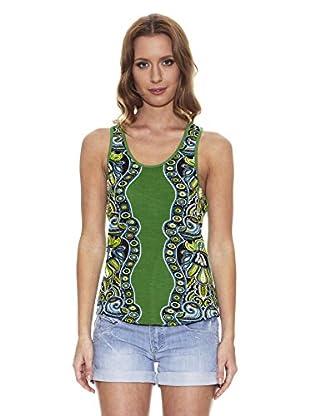 Peace & Love Camiseta Estampada (Verde)
