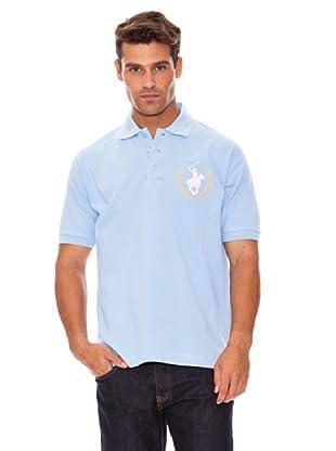 Polo Club Polo Manga Corta Bordado Caballo Grande (Azul Celeste)