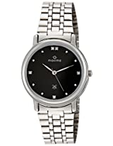 Maxima Attivo Steel Analog Black Dial Men's Watch - 08457CMGI