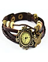Vintage Collection Brown Bracelet Butterfly Women Wrist Watch