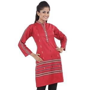 Chhabra 555 WCXT8824 Printed Kurti - Red