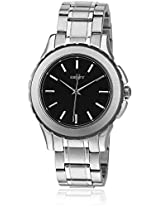 NY1522 Silver/Black Analog Watch
