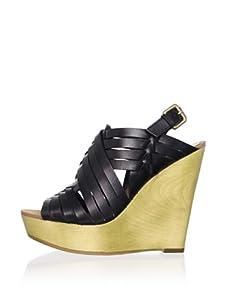 Ash Women's Oman Wedge Sandal (Black)