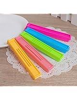 6 Pc Plastic Vacuum Sealing Food Bag Clip,Sealer Clamps - Keep Food Fresh, Prolong Shelf Life - Size Small (8*9*2 cm)