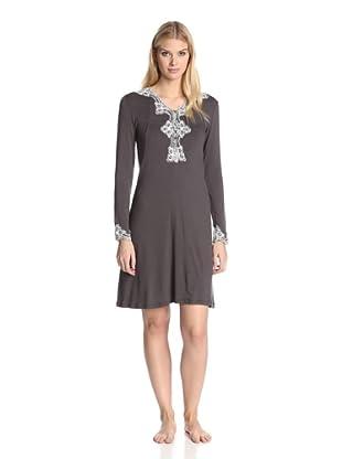 Valery Sleepwear Women's Biancaneve Night Gown (Black)