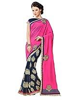 Gopalclothdesigner Art Silk Resham Saree (iwgy158_Multicolor)