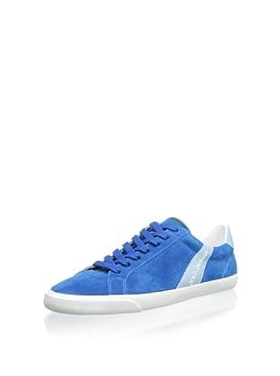 Dolce & Gabbana Men's Suede Sneaker (Blue)