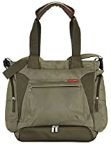 Skip Hop Baby Bento Meal-to-Go Diaper Bag with 8-piece Mealtime Container Set for Multi-Tasking Families, Unisex, Olive