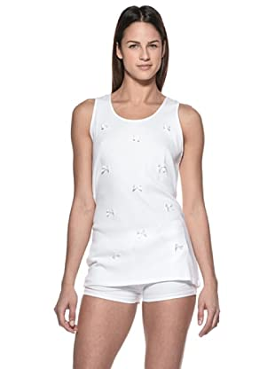Crema Camiseta Lacitos Manga Corta (Blanco)
