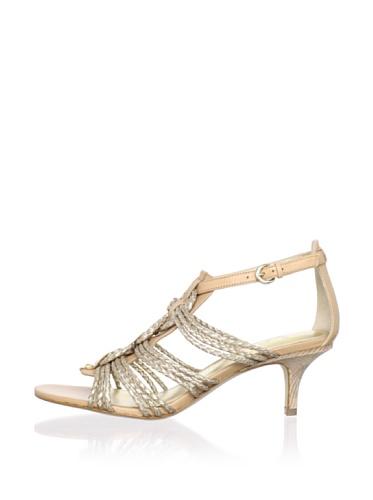Belle by Sigerson Morrison Women's Falda Sandal (Gold 3)