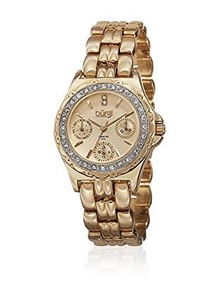 Bürgi Uhr mit schweizer Quarzuhrwerk Woman Ladies Multifunction goldfarben 32 mm