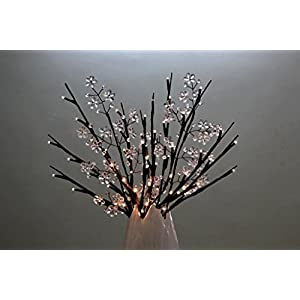 White Crystal Floral Spray Branch Lights