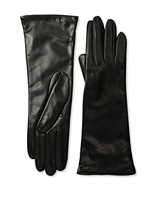 Portolano Women's Cashmere Lined Leather Gloves (Black)