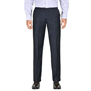 Peter England Formal Regular Fit Solid Trousers