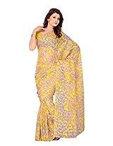 Diva Fashion Yellow Jacquard Saree 256C