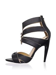 L.A.M.B. Women's Mirage Ankle-Strap Sandal (Black)
