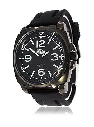 Pit Lane Uhr mit Miyota Uhrwerk Pl-2001-2 schwarz 42 mm