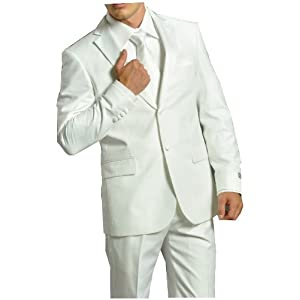 Gwalior Suitings White Men Suit 109