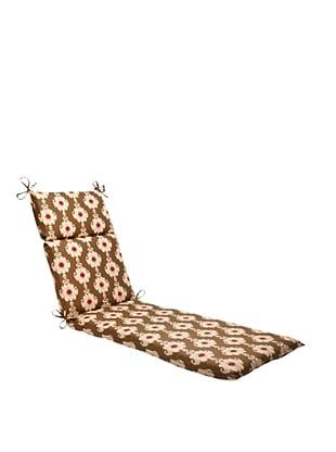 Waverly Sun-n-Shade Rise and Shine Henna Chaise Lounge Cushion (Red/Brown/Tan)