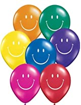 """5"""" Smile Face Asst. Jewel Tone"""