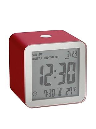 Lexon Cube Sensor Alarm Clock, Red