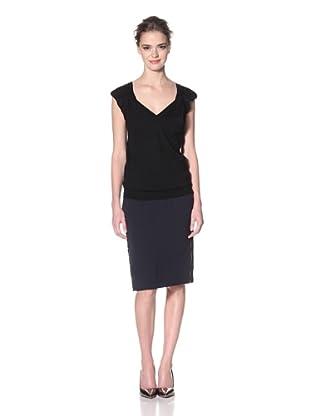 Nina Ricci Women's Sleeveless V-Neck Sweater (Black)