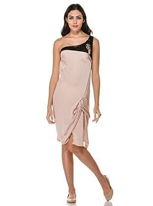Annarita N Vestido One Shoulder (Polvo)