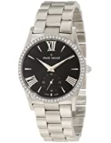 Claude Bernard Women's 23092 3P NIN Classic Ladies Black Sunray Dial Steel Crystal Watch