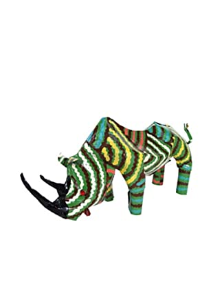 Mbare Painted Tin Rhino (Multi)