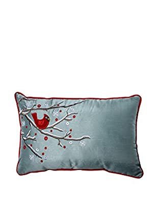 Pillow Perfect Holiday Cardinal on a Snowy Branch Lumbar Pillow