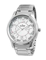 Dezine Men's Analogue White Dial Watch -DZ-GR800-WHT-CH