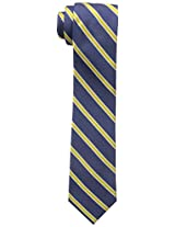 Tommy Hilfiger Men's Slim Navy Ground Stripe Tie