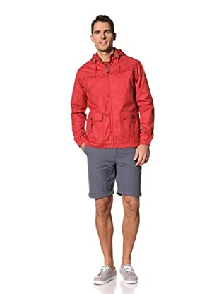 FARAH Men's The Buxt Hooded Coat (Red Chili)