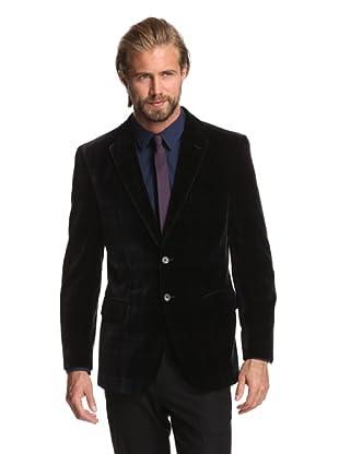 Joseph Abboud Men's Blackwatch 2-Button Velvet Sportcoat (Black)