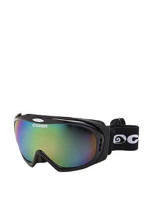 Ocean Máscara Ski Mont Black (Negro Brillante / Morado)
