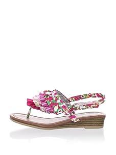 Steve Madden Girl's Trebeque Sandal (Pink Multi)