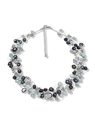 Valero Pearls 60200101 - Collar de mujer de plata con perla cultivada de agua dulce, 48 cm