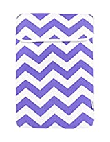 TopCase Chevron Series Purple Sleeve Bag Cover for New Released Macbook 12 12-Inch Model : A1534 Retina Notebook
