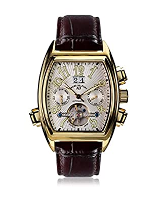 André Belfort Reloj automático Royale Date Gold Weiß Marrón 38  mm