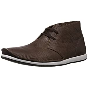 Clarks Men's Dark Brown Leather Casual Sneakers - 10.5 UK