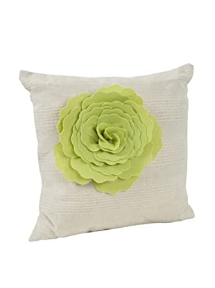 Saro Lifestyle Lime Flower Design Pillow