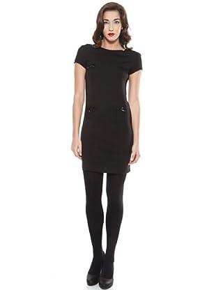 Ada Gatti Vestido Con Mini Bolsillos (Negro)