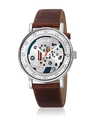 August Steiner Uhr mit japanischem Quarzuhrwerk  braun 40 mm