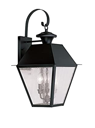 Crestwood Mason 3-Light Wall Lantern, Black