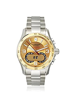 Victorinox Swiss Army Men's 241619 Chrono Classic Silver/Gold Stainless Steel Watch