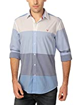 Allen Solly Pastel Toned Wide Striped Cotton Shirt