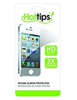 HotTips Screen Protector for iPhone 4/4s - Retail Packaging - White