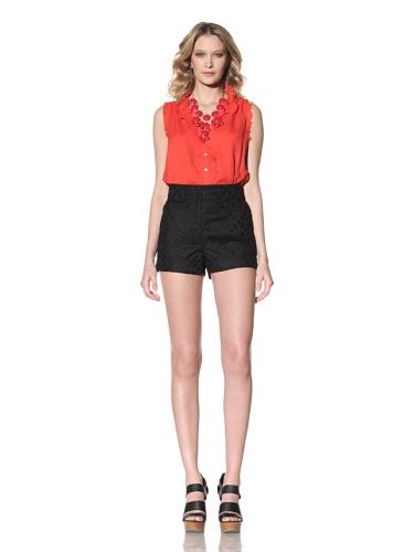 Anna Sui Women's Cotton Jacquard Shorts (Black)