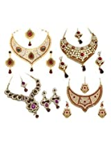 Combo of Vendee Fashion Diamond Necklace Set